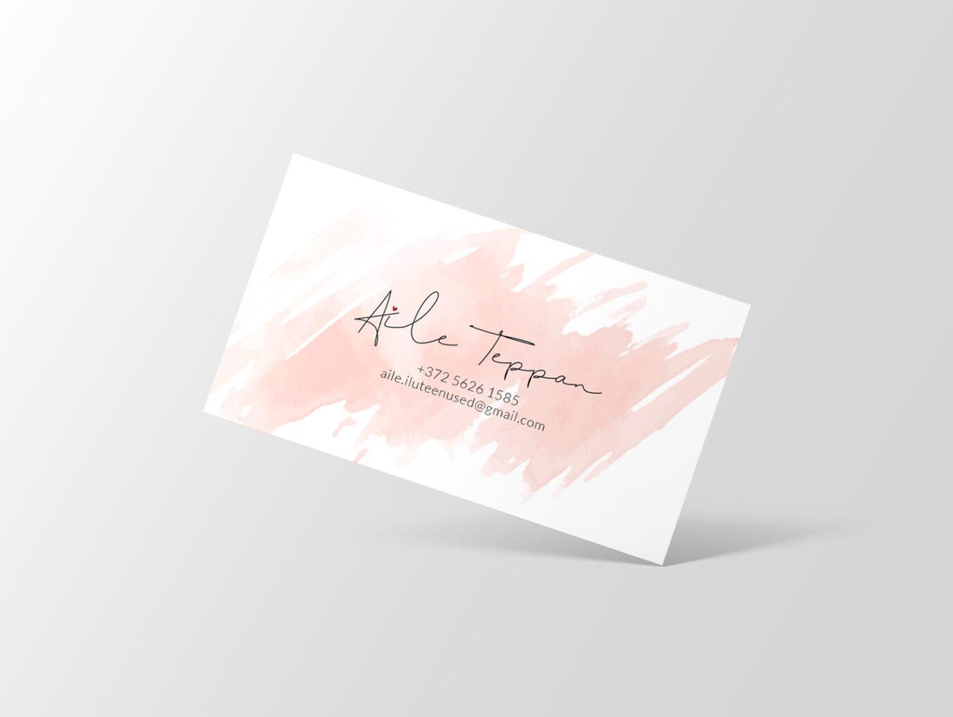 Aile visiitkaardi kujundus